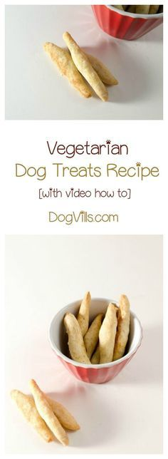 Vegetarian dog treat  Vegetarian dog treats recipes are a great alternative to constantly giving your pooch meat-filled goodies. Check out the video & printable recipe card! Vegetarian Dog Treats Recipe, Dog Treat Recipes, Dog Food Recipes, Dog Biscuits, Cookies Et Biscuits, Homemade Dog Cookies, Dog Biscuit Recipes, Diy Dog Treats, Yummy Treats
