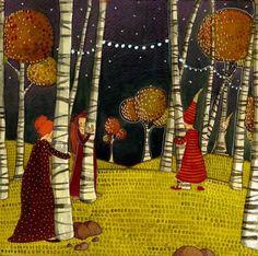 eLBaúL que no tenía mi aBueLa: Lili Gribouillon Funny Illustration, Vincent Van Gogh, Whimsical Art, Cute Pictures, Closer, Happy Birthday, Lily, Hiding Spots, Illustration Styles