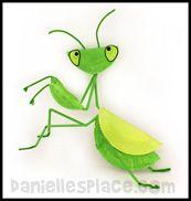 Praying Mantis Paper plate Craft www.daniellesplace.com