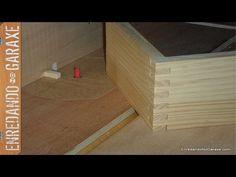 Guía para cortar uniones tipo dedo o lazos para cajas. Finger joint jig, box joint jig - YouTube
