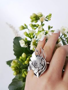 'Just as the bird sings or the butterfly soars, because it is its natural characteristic, so the artist works. 925 Silver, Silver Rings, Unique Gifts For Her, Nest, Butterfly, Organic, Bird, My Style, Natural