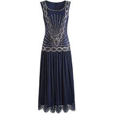 Simply Be Joanna Hope Sequin Maxi Dress (140 CAD) ❤ liked on Polyvore featuring dresses, navy, flapper dress, sequin flapper dress, 1920s dress, roaring twenties flapper dresses and beaded flapper dress