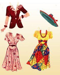 1942 Lana Turner paper doll clothes / gabipaperdolls.blopspot.com