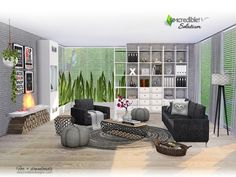 Sims 4 CC's - The Best: Livingroom Solatium by SIMcredible!
