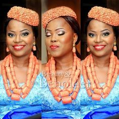 Beauty  The Beholder Makeovers Nigerian Wedding: 20 Beautiful Rivers/ Ijaw Brides, Their Style,  Their Flawless Makeovers | Nigerian Wedding