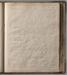 The Atlas of the United States Printed for the Use of the Blind, published in 1837