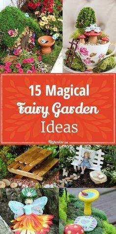 15 Magical Fairy Garden Ideas [DIY] via @tipjunkie