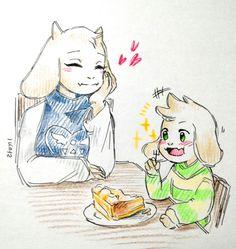 Toriel and Asriel | sketch-cafe | Langggi's blog