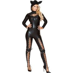 Aletterhin New Arrivals Halloween Costumes Cosplay Bodysuit For Women Black Long Sleeve PU Leather Sexy Frisky Cat Costume Cat Cosplay, Catwoman Cosplay, Popular Costumes, Costumes For Women, Cat Costumes, Cosplay Costumes, Kitty Costume, Adult Costumes, Costume Ideas