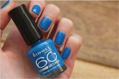 Rimmel London - Blue Eyed Girl (e-elise etc) Blue Eyed Girls, Rimmel London, London Blue, Blue Eyes, Swatch, Nail Polish, Nail Art, Nails, Different Color Nails