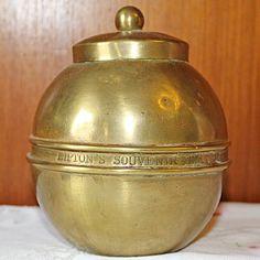 Lipton Brass Tea Caddy , the British Empire Exhibition 1924, very collectable