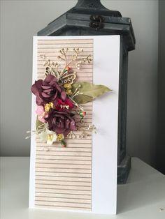 Butterfly bouquet card #flowers #butterfly #shabbychic