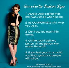 Anne Curtis tips Anne Curtis, Live Love Life, Casual Outfits, Casual Clothes, Beauty Hacks, Beauty Tips, Style Guides, Feel Good, Style Me