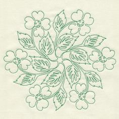 Apple blossom medallion #embroidery