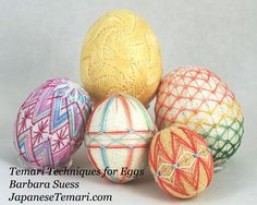 Temari Techniques for Eggs Patterns and Tips by JapaneseTemari