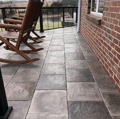 Create a charming outdoor space with DekTek Tile's beautiful and low maintenance concrete deck tiles!   #decking #deckbuildingplans #deckconstruction #concrete #deck #deckideas
