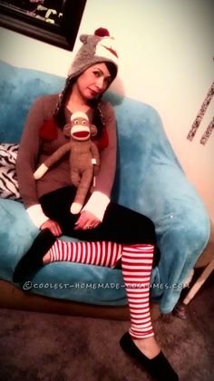 Original Last-Minute Costume Idea: Sock Monkey Lady… Coolest Halloween Costume Contest