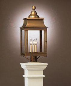 """Montgomery Lantern - Antique Brass, Dark Brass, Verde Brass 12 1/4"""" W, 28"""" H"""