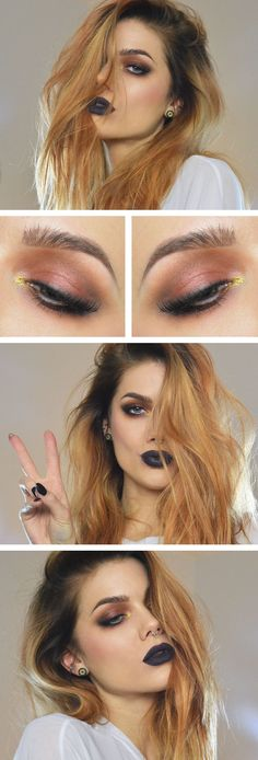 Linda Hallberg. Love the black lips! I will try it on myself someday