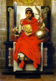Jean-Paul Laurens (French, 1838-1921) - The late empire, Honorius, 1880