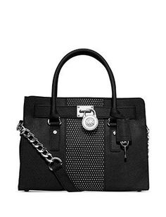 MICHAEL Michael Kors Microstud Hamilton Center Stripe East West Satchel someday I will have one! Michael Kors Hamilton, Cheap Michael Kors, Michael Kors Outlet, Michael Kors Tote, Handbags Michael Kors, Studded Leather, Leather Satchel, Man Satchel, Leather Purses
