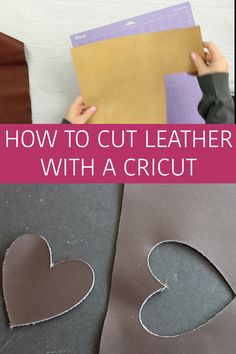Stickers Discover How to Cut Leather with a Cricut Learn all about cutting leather with a Cricut machine - no matter if you have a Cricut Explore series or a Cricut Maker - you can cut leather! Circuit Crafts, Circuit Projects, Cricut Blades, Cricut Design Studio, Diy Leather Earrings, Cricut Help, Leather Projects, Leather Crafts, Brenda