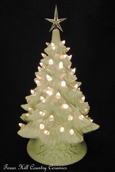Soft Antique White Ceramic Tree - Mama made one for each of her children - they are being passed on to her grandchildren