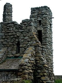 """Hawk Tower in Carmel,  Jeffers spent most of his life in Carmel, California, in a granite house that he had built himself called """"Tor House and Hawk Tower."""" Tor is a term for a craggy outcrop or lookout. The completed residence was used as a family home until his descendants decided to turn it over to the Tor House Foundation, formed by Ansel Adams, Photo by Celeste Davison"""