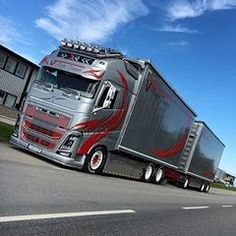 Customised Trucks, Truck Paint, Show Trucks, Volvo Trucks, Classic Trucks, Vehicles, Instagram, Trailers, Videos
