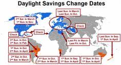 when is dayloght saving time savings time start usa set clock forward backward extra hour lose hour