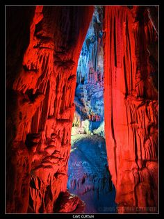 Magnificent scenery of the cave Curti France