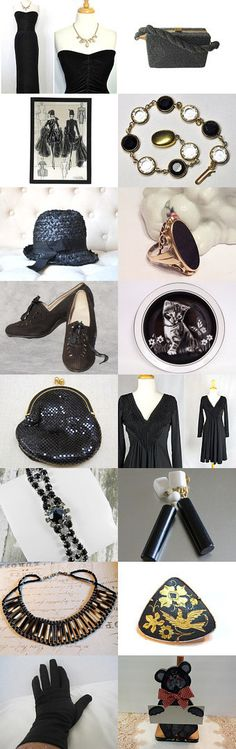Black Valentines Gift ❤ by Dorota and Monika on Etsy--Pinned+with+TreasuryPin.com