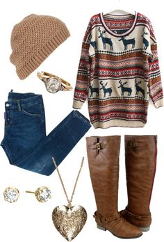 """moose sweater"" by photographersdaughter ❤ liked on Polyvore"