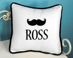 How adorable is this mustache pillow? #pillow