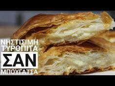Εύκολη Νηστίσιμη Τυρόπιτα (Σαν Μπουγάτσα) - Cook #WithMe Vegan Feta Pie - YouTube Spanakopita, Food Art, Vegan Recipes, Vegan Food, Sandwiches, Pie, Bread, Ethnic Recipes, Desserts