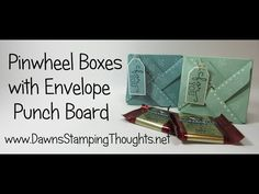 Pinwheel Box using the Envelope Punch Board from Stampin'Up! - YouTube