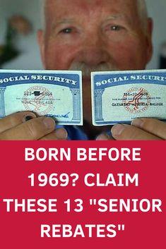 """Born Before 1969? Claim These 13 """"Senior Rebates"""""""
