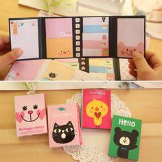Cute Cartoon Animal Cat Bear Memo Pad Sticky Post it Note Kawaii Paper Sticker for kids Korean Stationery Free shipping 10009 //Price: $8.95 & FREE Shipping //     #catstuff