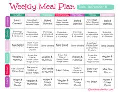 Clean Eating Meal Plan - December 8th - Sublime Reflection | by Kimberly Job