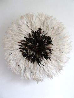 Juju Hat Bamileke Feather Headdress Natural White by SomAfrica,