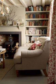 A comfy reading snug room