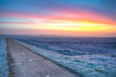 Landscape on a Frosty Morning at Sunrise | #desktop #wallpapers #photography #nature #photos #beautiful #landscape #clouds #colors #frost #morning #sunrise