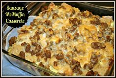 "Healthier Sausage ""McMuffin"" Casserole - Eat at Home"