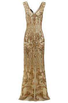 3d46d52791a0 Angie Beaded Flapper, 1920s Great Gatsby Inspired, Art Deco Evening Cocktail  Dress, Downton Abbey, 20s Gold Wedding Dress, Plus Size, S-4XL