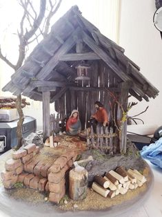 Christmas Nativity Set, Christmas Wood, Country Christmas, Christmas Photos, All Things Christmas, Christmas Crafts, Nativity Stable, Christmas Stencils, Xmas Decorations