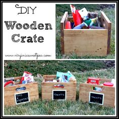 DIY Wooden Crates - Get the tutorial to make these. www.virginiasweetpea.com