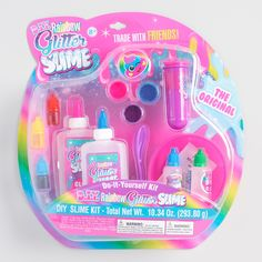 The slime craze is sweeping the nation, and this kit contains everything needed to make slime of the glitteriest kind. There& even a container for trading your creation with other slime lovers. Slime Kit, Diy Slime, Jasmin Party, Diy For Kids, Crafts For Kids, Fun Crafts, Arts And Crafts, Glitter Slime, Glitter Top