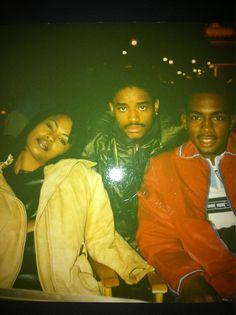 Nia Long, Larenz Tate, Bill Bellamy behind the scenes of Love Jones