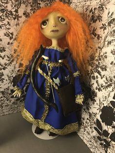Merida Ooak doll gothic doll art doll posable by MiserableMoppets