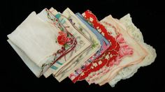1950s Flower print Handkerchiefs by SycamoreVintage on Etsy, $25.00